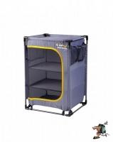 oztrail 3 shelf camp cupboard with steel frame camping furniture