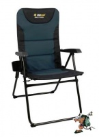 oztrail resort 5 position armchair 150kg camping furniture