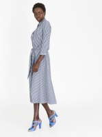 style republic self tie shirt dress navy and white