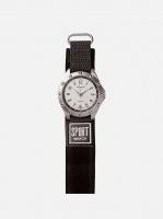 digitime velcro analogue watch grey mens watch