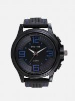 digitime heat analogue watch black and blue mens watch
