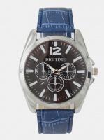 digitime cobalt analogue watch blue mens watch