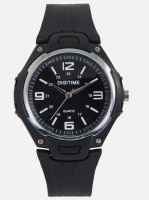 digitime anlg 30m wr watch black and white mens watch